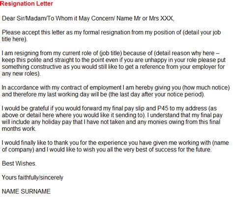 resignation letter   asda toresigncom