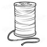 Thread Clipart Spool String Pink Clip Cliparts Common Clipartpanda Abeka Line Library sketch template