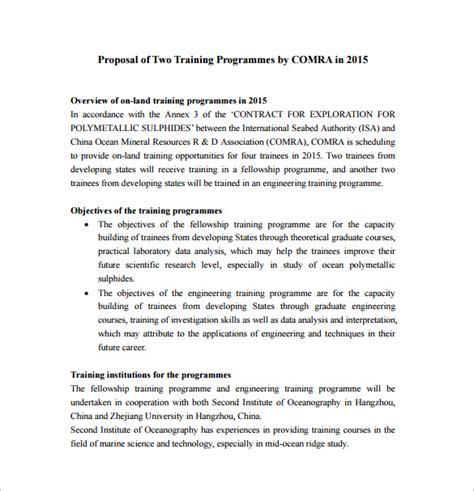 business plan templates for art programs 35 training proposal templates pdf doc free