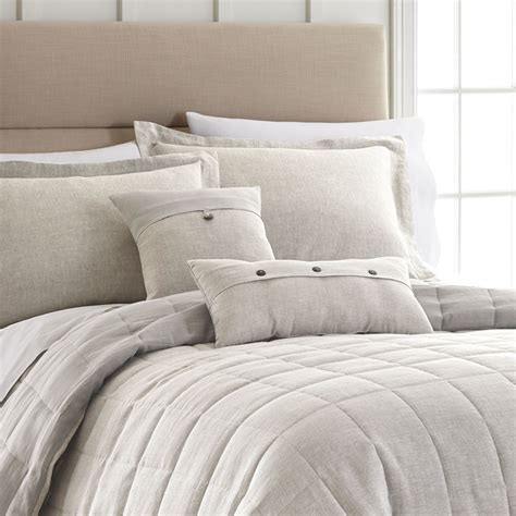 Light Grey Linen Bedding Collection