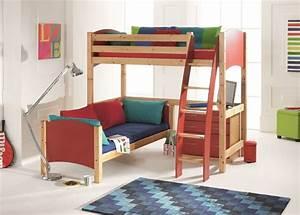 lit 2 places mezzanine un equipement tres fonctionnel With tapis jaune avec lit superposé avec canapé ikea