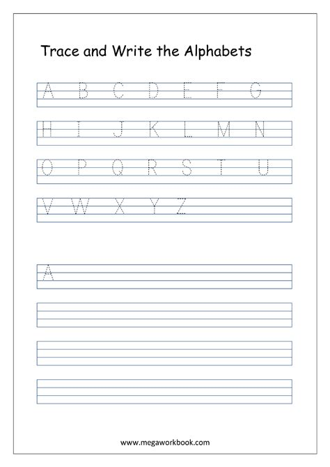 english worksheets alphabet writing capital
