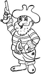pirat mit pistole  ausmalbild malvorlage piraten
