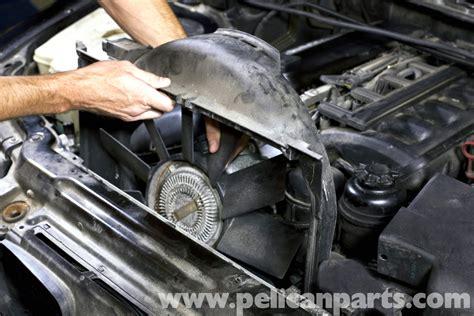 bmw e39 5 series cooling fan replacement 1997 2003 525i 528i 530i 540i pelican parts diy
