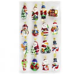 16 pieces medallion collection glass miniature christmas
