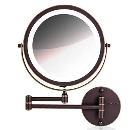 wall ring light mirror ovente wall mirror 1 215 10 215 magnification led ring