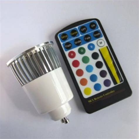 5w gu10 rgb led spot light spotlight bulb l 16 colors