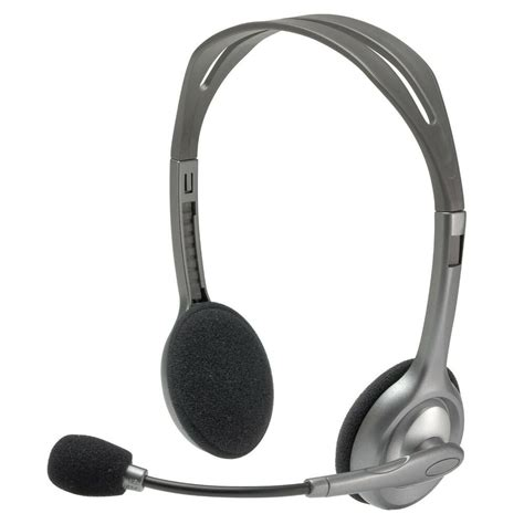 logitech and microphone logitech h110 stereo headset with microphone for pc mac