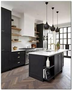 42, Stunning, Black, White, Wood, Kitchen, Decor, Ideas, Kitchenideas, Kitchendecor, Kitchendesign