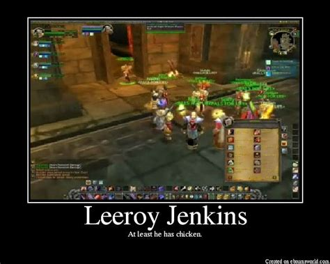 Leeroy Jenkins Meme - pin by scott morrison on funny pinterest
