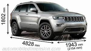 Volume Coffre Jeep Compass : dimensions of jeep cars showing length width and height ~ Medecine-chirurgie-esthetiques.com Avis de Voitures