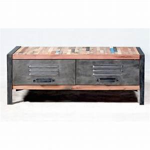 Meuble En Fer : meuble tv bois et fer pas cher ~ Teatrodelosmanantiales.com Idées de Décoration