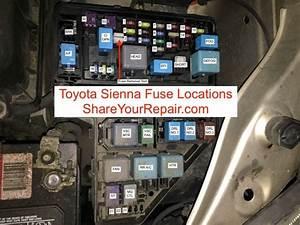 Toyota Sienna Fuse Locations