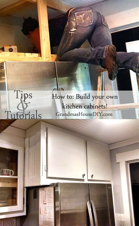diy build   white country kitchen cabinets