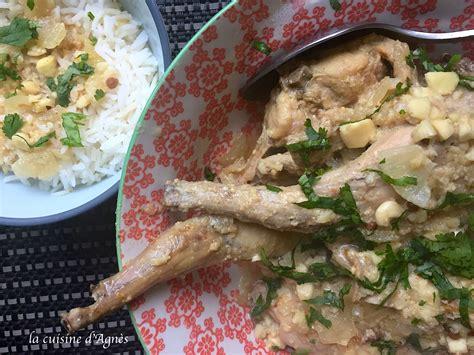 la cuisine aux images curry de lapin aux amandes la cuisine d 39 agnèsla cuisine