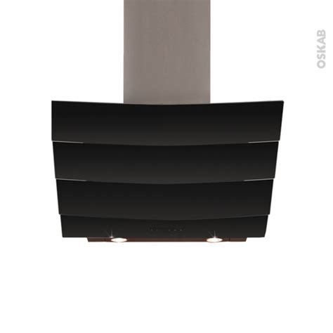 hotte de cuisine 90 cm hotte de cuisine aspirante inclinée 90 cm verre noir
