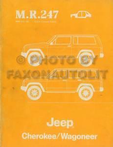 1984 Wagoneer Body Manual Original