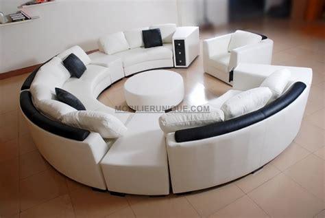 canape forme ronde canap 233 d angle en cuir italien en rond design et pas cher