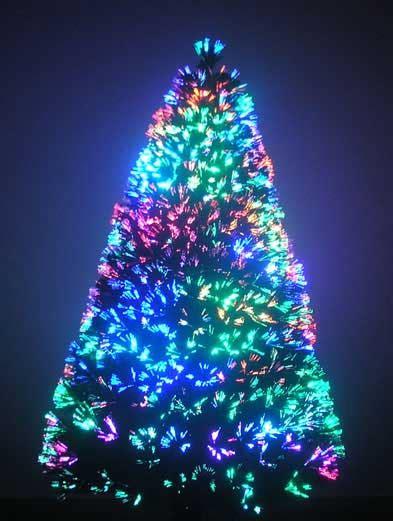 7 foot fiber optic christmas tree 7 ft ez tree