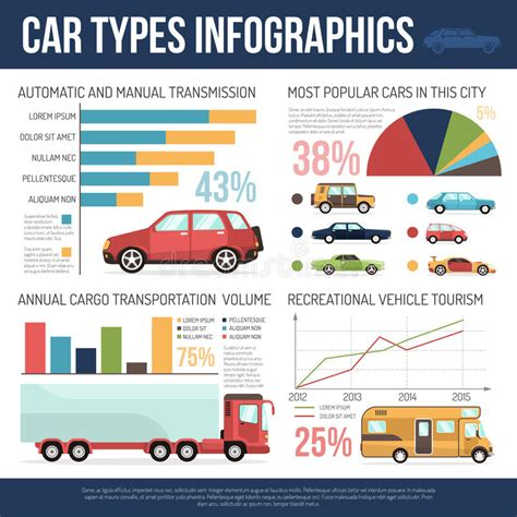 Car Types Infographics Stock Vector. Illustration Of