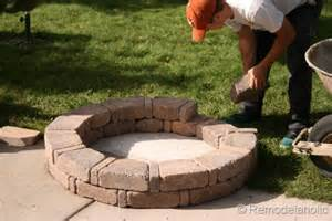 DIY Fire Pit and Seating Wall