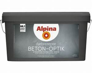 Beton Effekt Farbe : alpina farbrezepte beton art komplett set 3 l basis 1 l ~ Michelbontemps.com Haus und Dekorationen