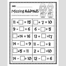 Missing Addends Worksheet By Boren2teach  Teachers Pay Teachers