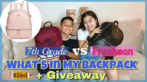 whats   backpack giveaway  youtube