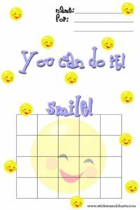 cute behavior charts smiley face papers templates With smiley face behavior chart template