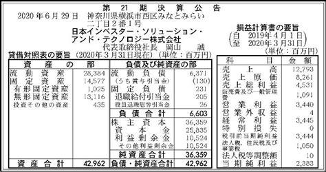 日本 インベスター ソリューション アンド テクノロジー 評判