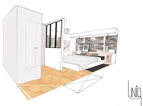 amenagement chambre a coucher avec dressing uniq intérieurs projet aménagement décoration d 39 une