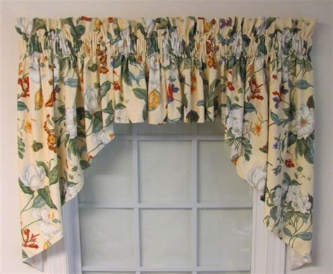 garden images parchment lined swag thecurtainshopcom