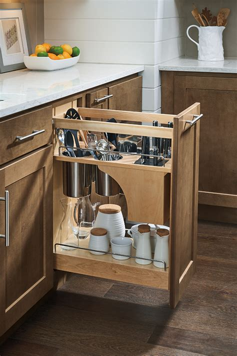 pantry pullout cabinet  knife block homecrest