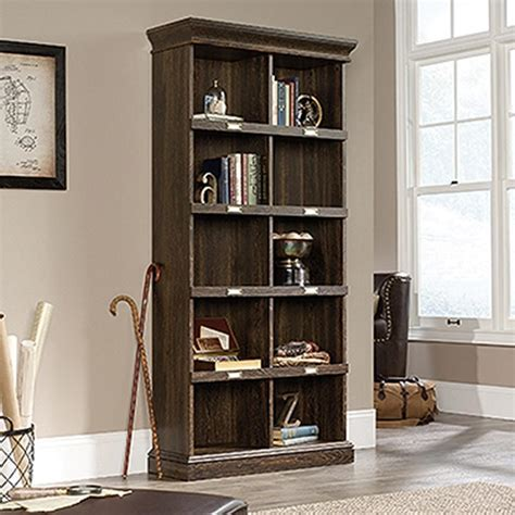 Sauder Bookcase by Sauder Barrister Iron Oak Cubbyhole Bookcase