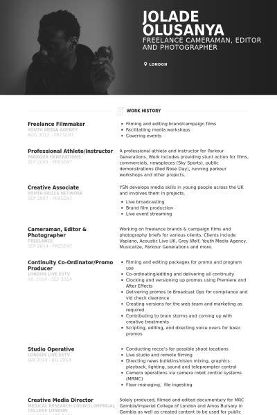 photography production assistant resume resume sles visualcv resume sles database