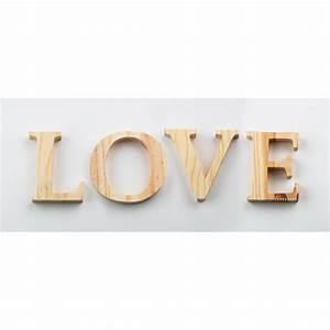 Lettre En Bois A Poser : grande lettre en bois a peindre ~ Teatrodelosmanantiales.com Idées de Décoration