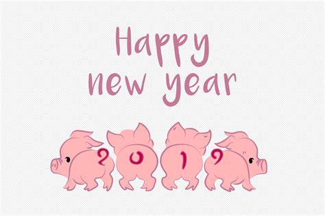 귀요미 카통 돼지 2019 년 새해 복 많이 받으세요 이미지 _사진 400841679 무료 다운로드