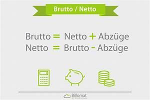 Rechnung Brutto : brutto netto was ist brutto netto billomat ~ Themetempest.com Abrechnung