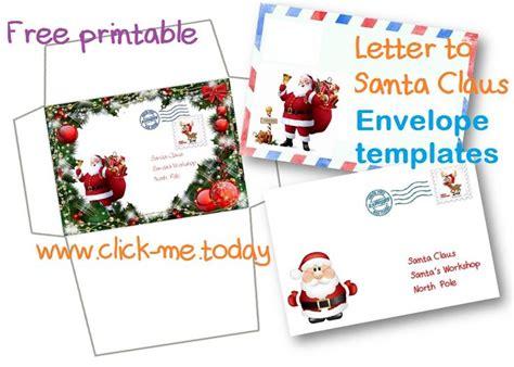 santa claus letter free printable letter to santa claus envelope template 11808
