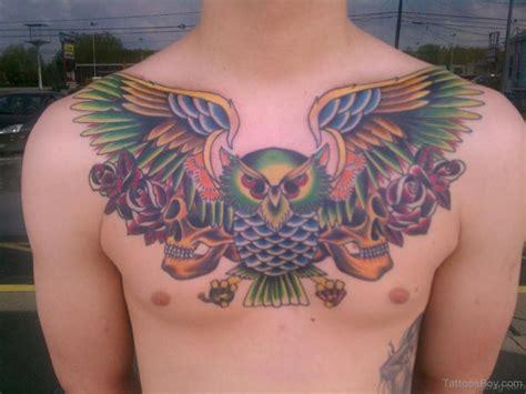 brilliant owl tattoos  chest