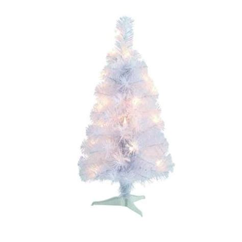 2 ft pre lit white tinsel tabletop artificial christmas