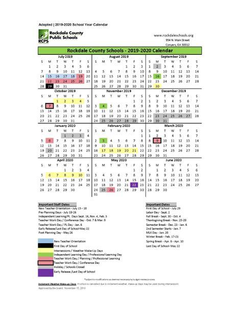 calendars rockdale county public schools