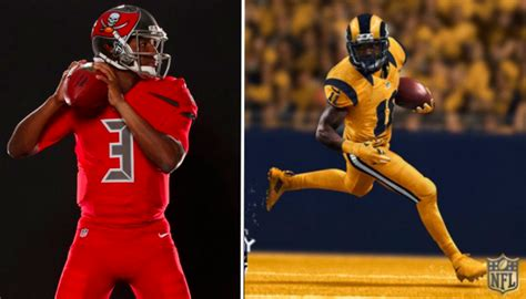 hideous blinding bucs rams color rush gear