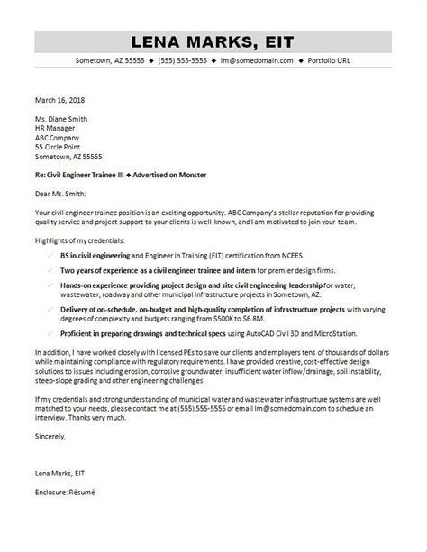 civil engineering cover letter sample monstercom