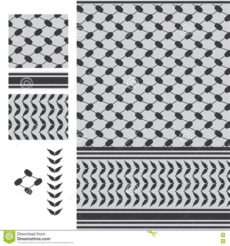 Jordan Retro 11 Wallpaper Palestine Keffieh Black White Seamless Pattern Stock Vector Image 71959533