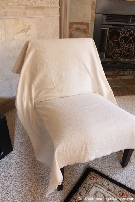 Accent Chair Slipcover Slipcovering An Armless Accent Chair Confessions Of A