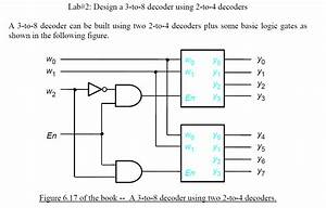 Solved  Question On Vhdl 3 To 8 Decoder Using Two 2 To 4 D