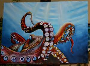 Octopussy Octopus Painting