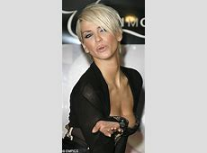 Is that a wardrobe malfunction, Sarah Harding? Corset is