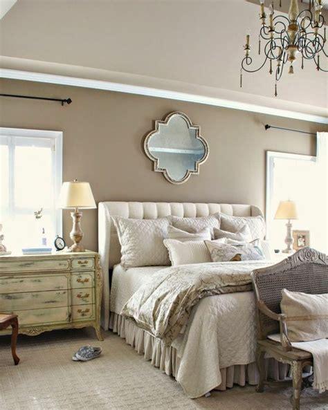 deco chambre beige  blanc